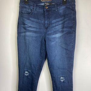 My Wonder Denim Regular Sequin Ankle Jeans QVC